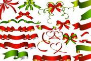 精美圣诞蝴蝶结丝带元素大全矢量素材