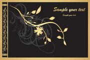 金色华丽花纹矢量2