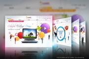 手机数码公司网页设计PSD素材