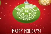 精致圣诞彩球吊球矢量素材