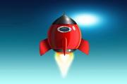 太空火箭图标PSD素材