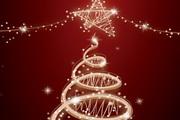 创意炫彩光晕圣诞树矢量素材