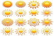 水晶太阳图标矢量素材2