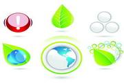 绿色环保图标矢量图素材