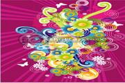 色彩花纹设计矢量图