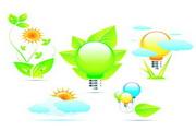 绿色环保图标矢量图素材3