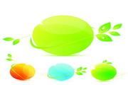 绿色环保图标矢量图素材4