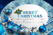华丽圣诞标签矢量素材