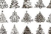 圣诞树纹样矢量素材大全