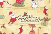 卡通圣诞背景矢量图素材