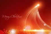 璀璨圣诞节背景矢量图素材