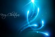 圣诞节蓝色光晕背景矢量素材