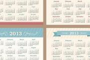 2013年创意日历汇矢量素材大全