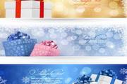 精美圣诞节礼盒banner矢量图