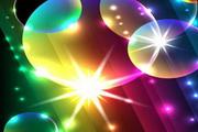 璀璨光晕背景气泡矢量图素材