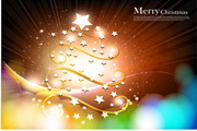 星光圣诞树矢量图