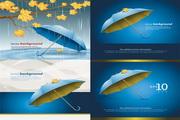 漂亮雨伞素材矢量图