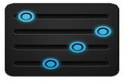 蓝黑手机桌面图标下载