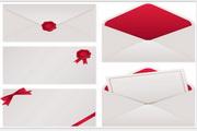 矢量信封文件袋设计模板