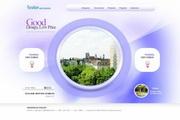 房地产楼盘网页设计PSD素材
