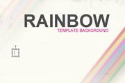 虹色彩PPT模板