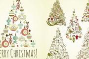 圣诞节圣诞树插画矢量图素材