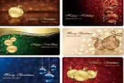 圣诞节卡片设计矢量图素材6张精美素材