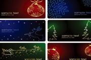 圣诞节卡片矢量图素材(6张精美矢量图)