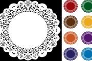圆形古典花纹矢量素材