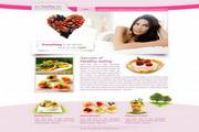 健康美容网站设计PSD素材