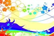 缤纷色彩花纹矢量图
