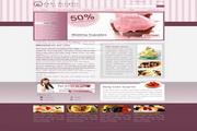 美食甜品网页设计模板PSD