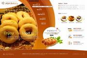 面包糕点主题网页设计PSD