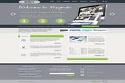 企业商务网页模板PSD素材