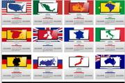 矢量世界地图日历模板