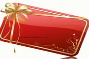 红色花纹卡片矢量素材