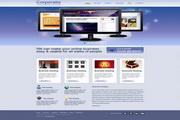 商务网站页面设计模板PSD