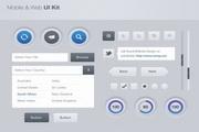 网页UI工具源文件素材