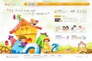 小学卡通网站PSD网页设计