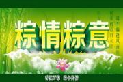 粽情粽意psd宣传吊旗设计