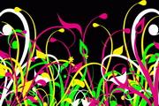 彩色的草丛矢量素材