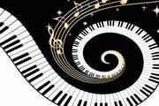 潮流钢琴矢量素材