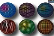 立体球面图案矢量图