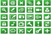 网站设计绿色小图标素材