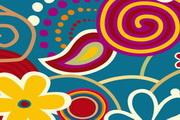 个性手绘花纹矢量素材