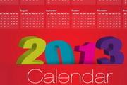 2013年精美日历矢量图