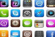 iphone手机应用程序图标素材33个