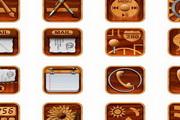 实木iphone手机图标素材