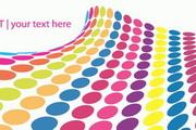 彩色圆点背景矢量图