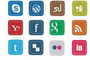 社交媒体方形图标素材